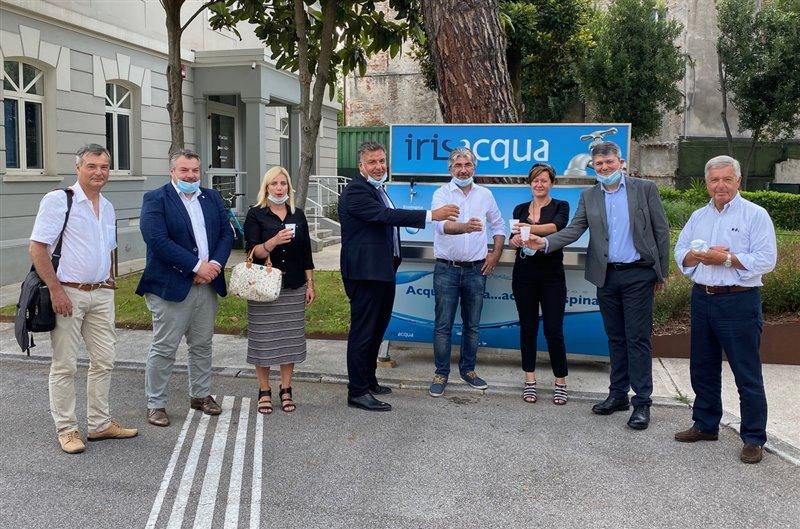 L'Europarlamentare Elena Lizzi in visita a Irisacqua